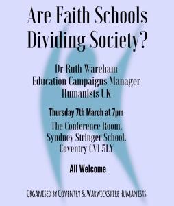 Faith Schools Meeting poster
