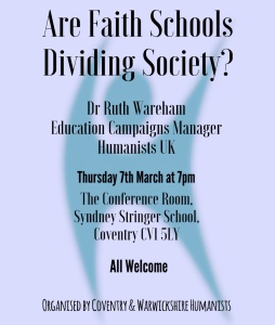 Faith Schools Meeting poster
